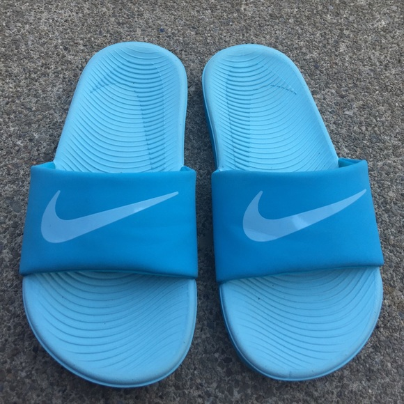 online store size 7 best sale Girls Nike Baby Blue Slides Sandals Size 12 NWOT